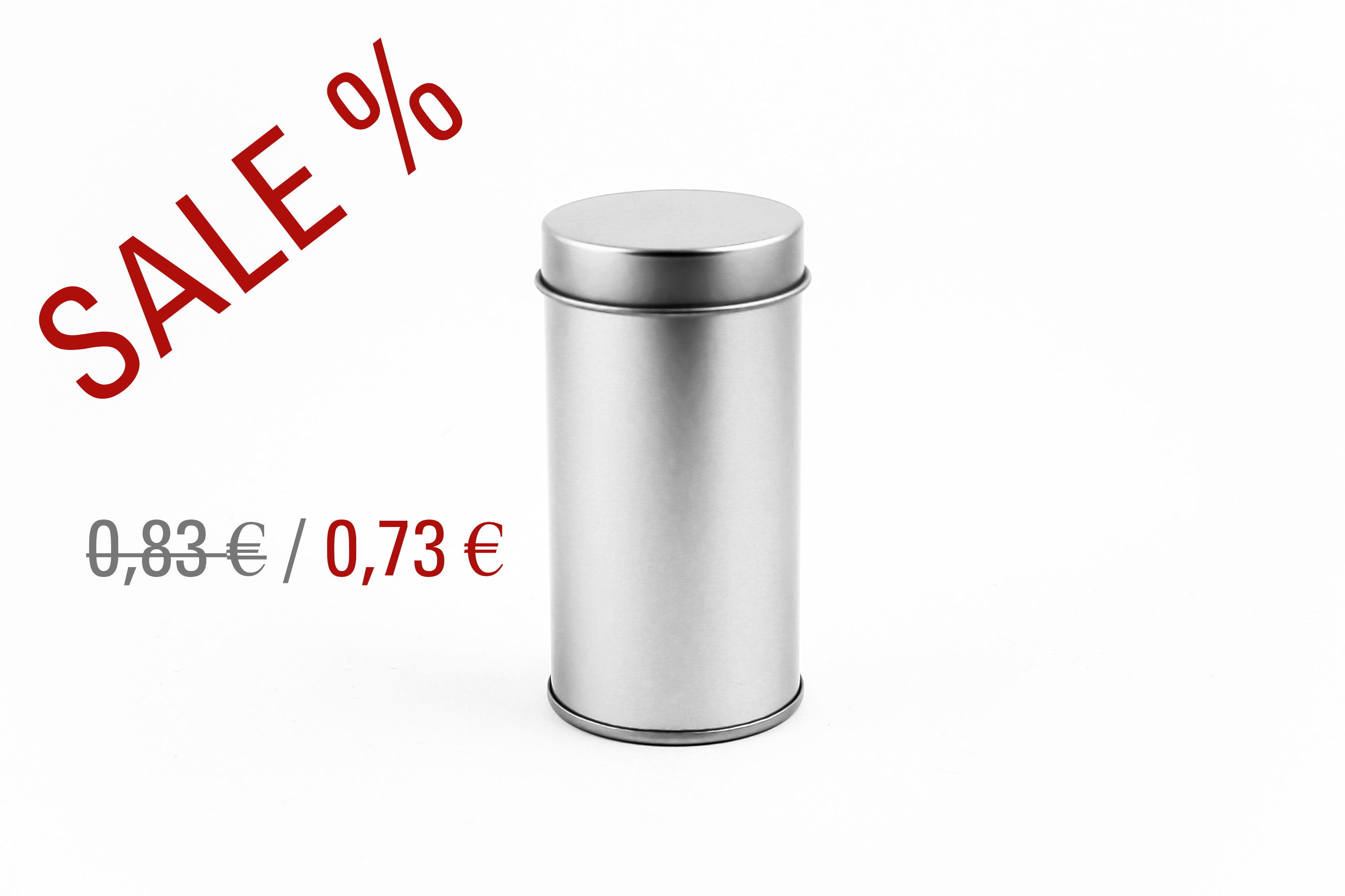 Round small silver tinbox with innerlid
