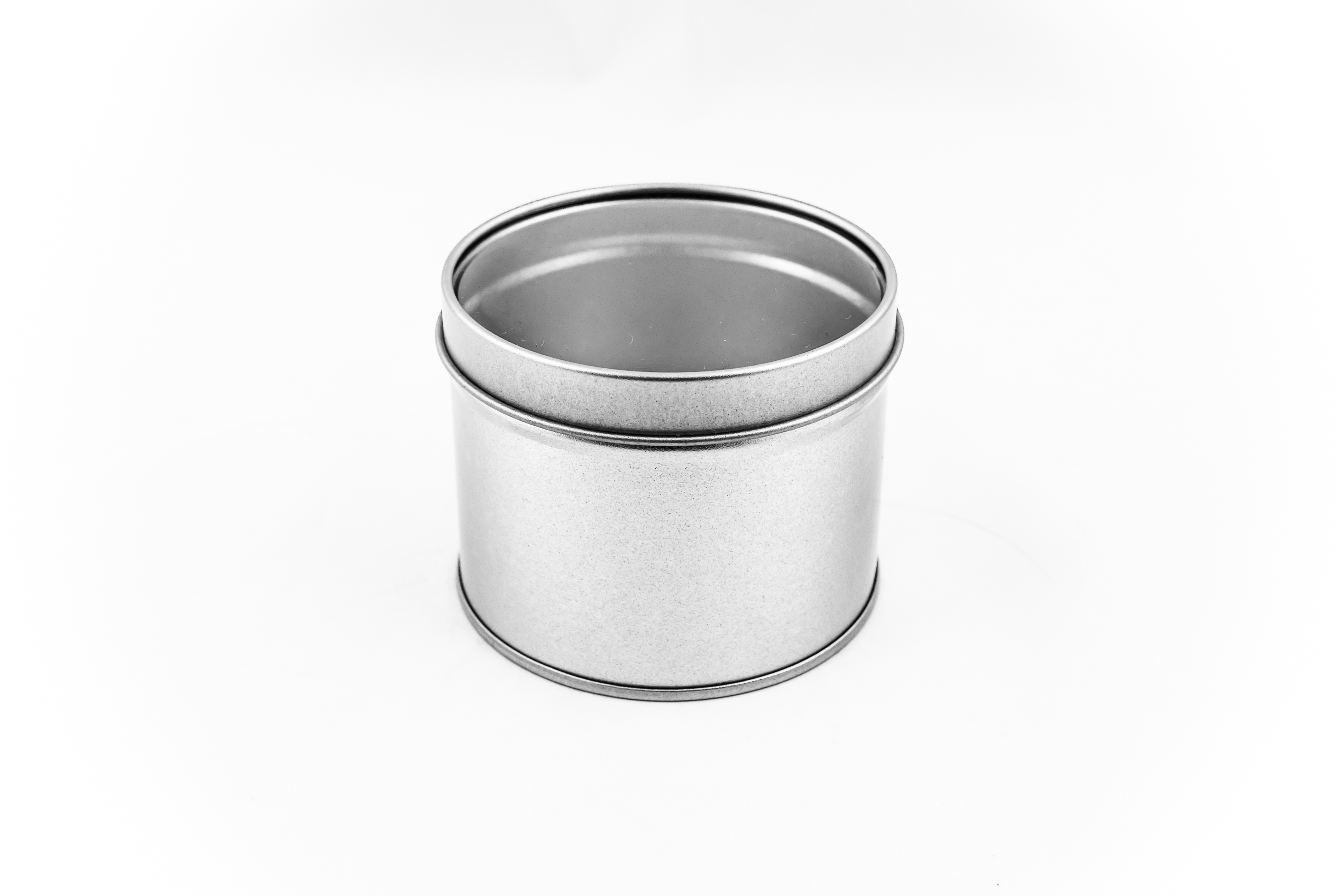 Spice tin , round with window